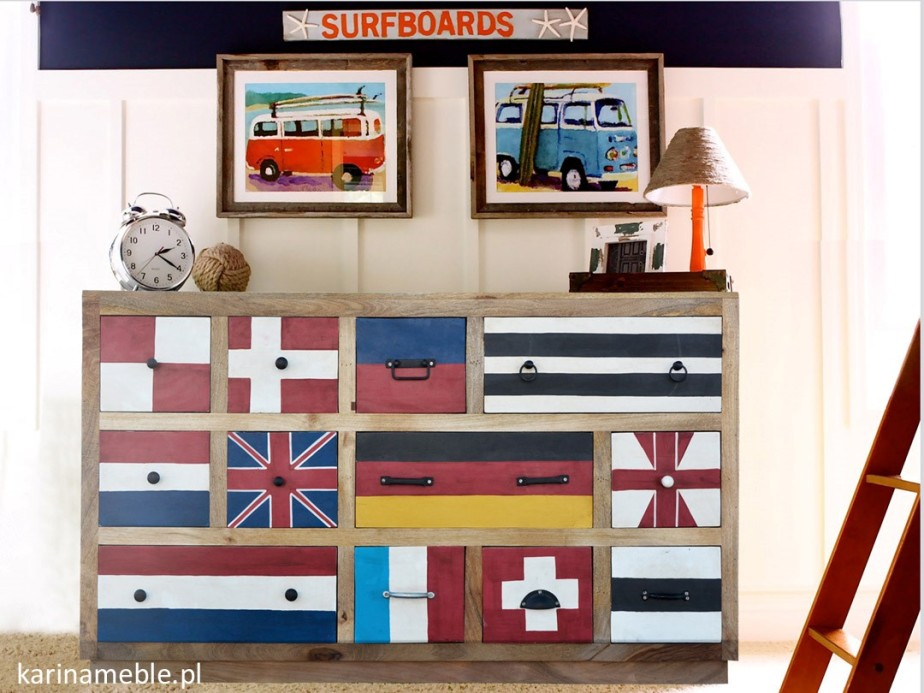komoda, szufladnik,salon, sypialnia, przedpokój, gabinet, jadalnia, meble, drewniane, loftowe, industrialne, flagi, indyjskie, kolonialne, orientalne, drewno, mango, akacja, palisander