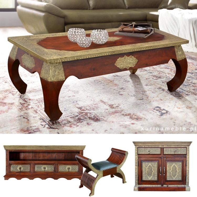 meble kolonialne - stolik z indyjskiego drewna palisander