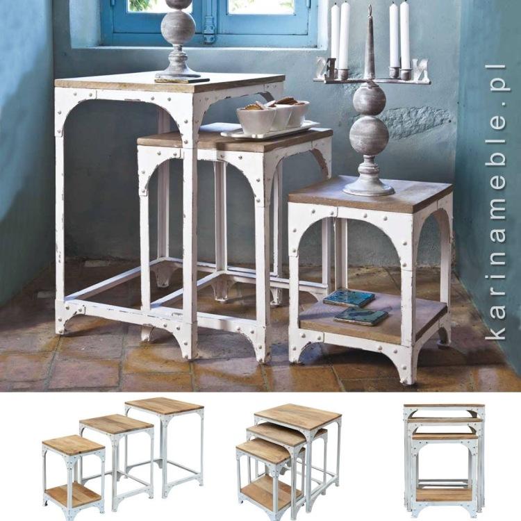 meble-loftowe-metalowe-stoliki-biale-industrialne