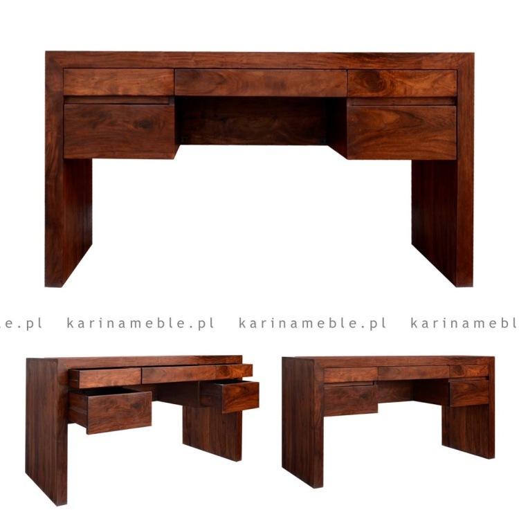 meble kolonialne biurko drewniane palisander indyjski