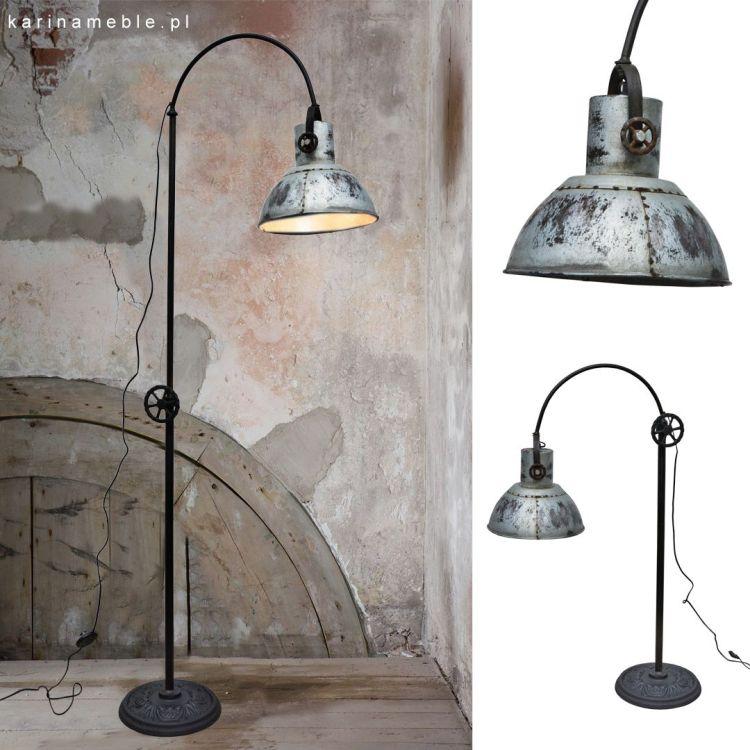 lampa loftowa industrialne metalowa vintage stojaca