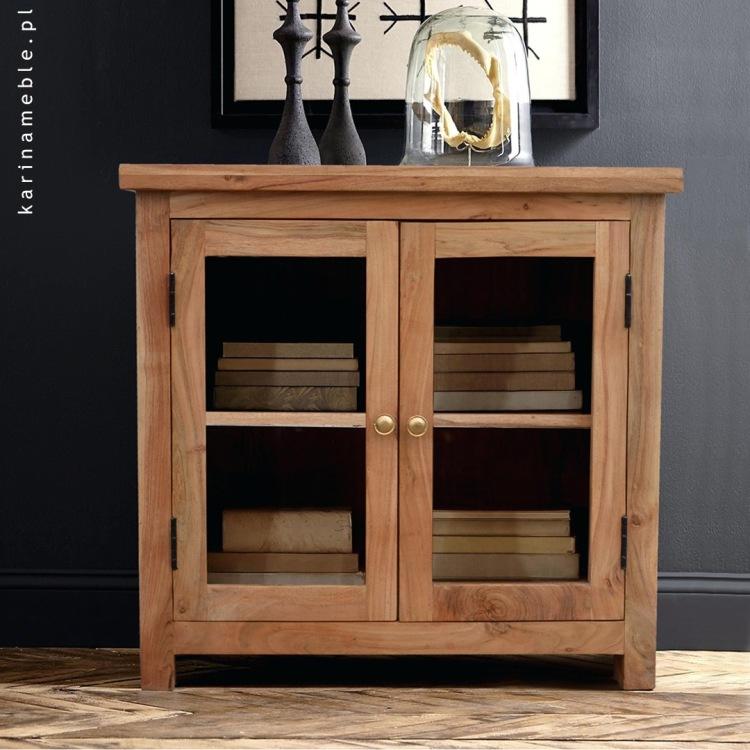 meble drewniane indyjskie salon przedpokoj akacja komoda witryna
