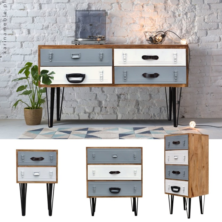 meble-loftowe-drewno-metal-komoda-konsola