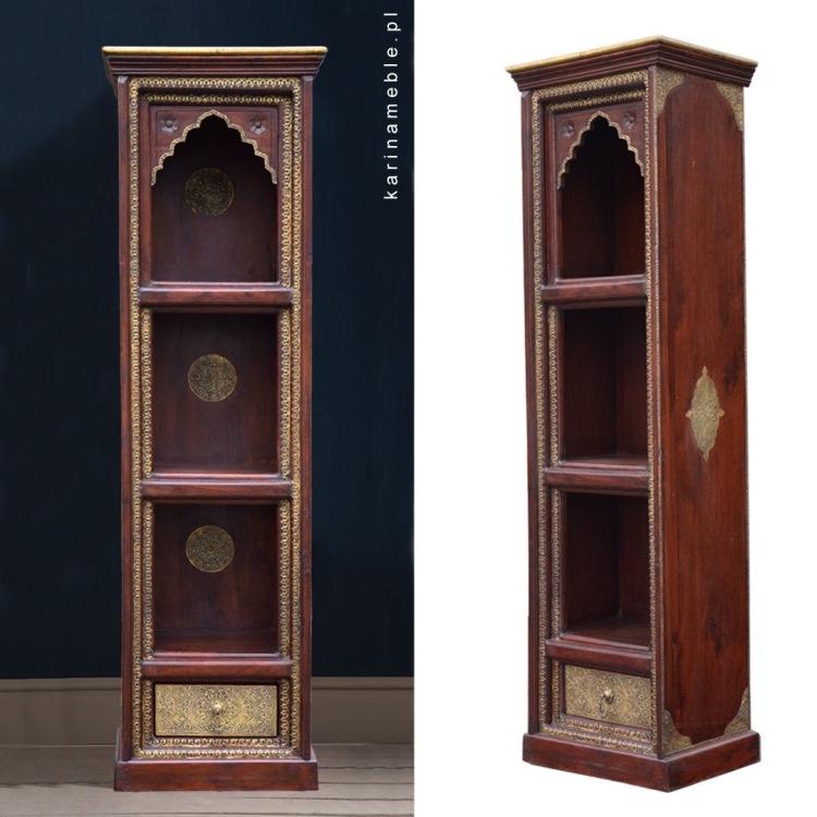 meble indyjskie biblioteczka drewniane regał