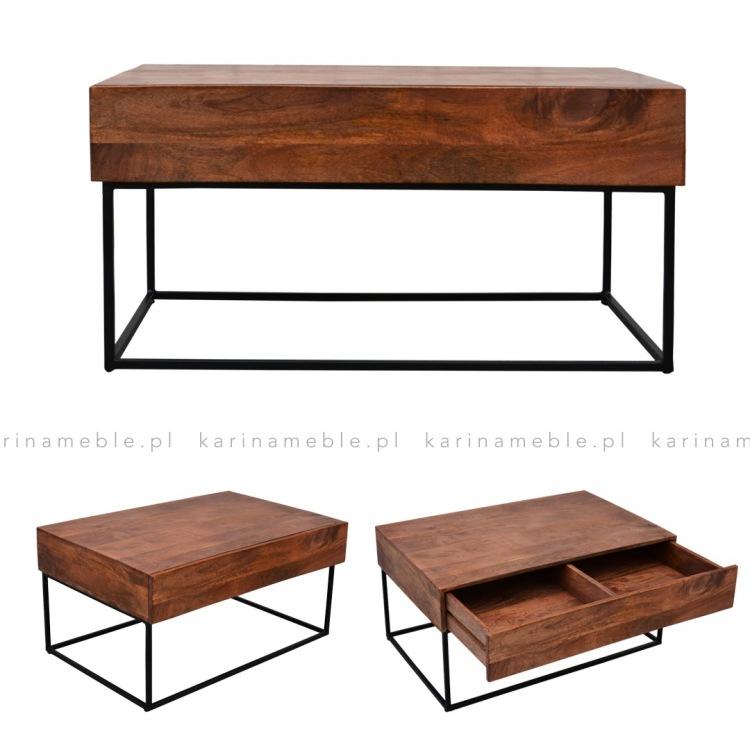 mele drewniane nowoczesne stoli na metalowych nogach