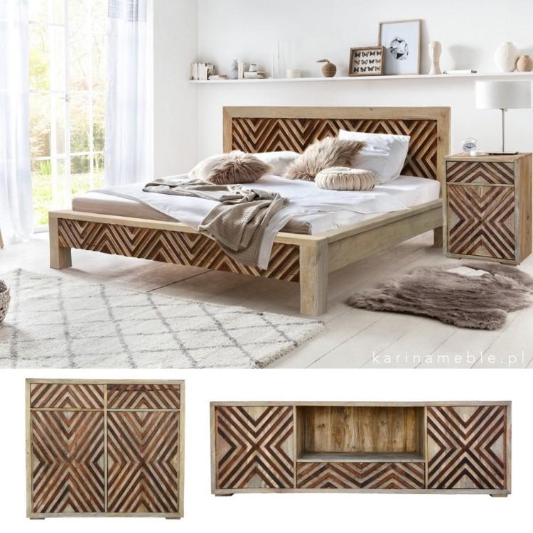 lozko drewniane mango sypialnia nowoczesna meble indyjskie kolonialne