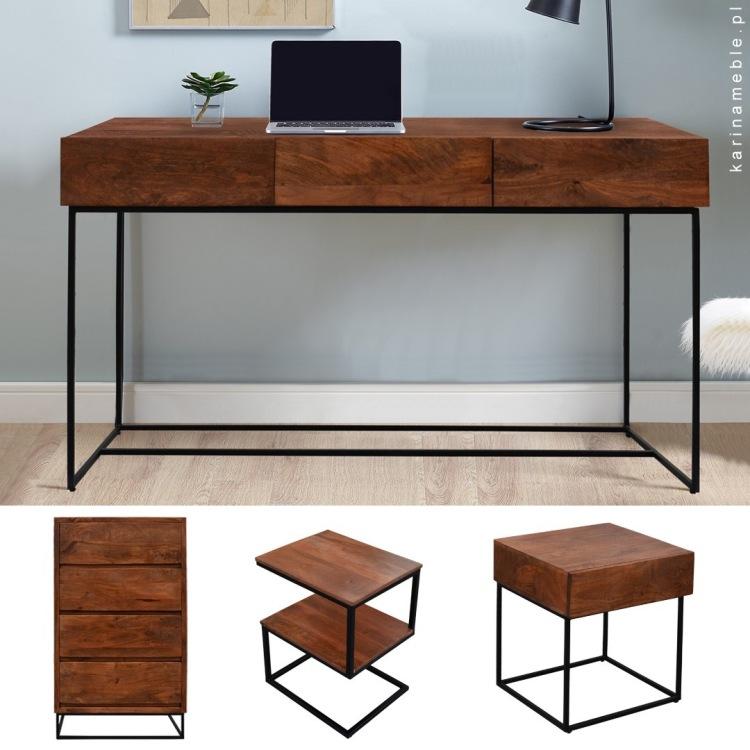 meble-loftowe-drewniane-industrialne-nowoczesne-biurko-komoda-metalowe-nogi