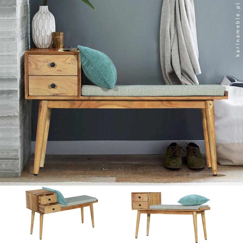 meble loftowe ławka drewniana karinameble