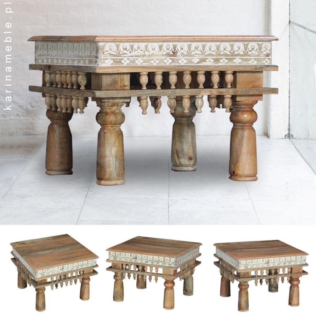 mebkolonialne stolik indyjskie drewniane karina meble