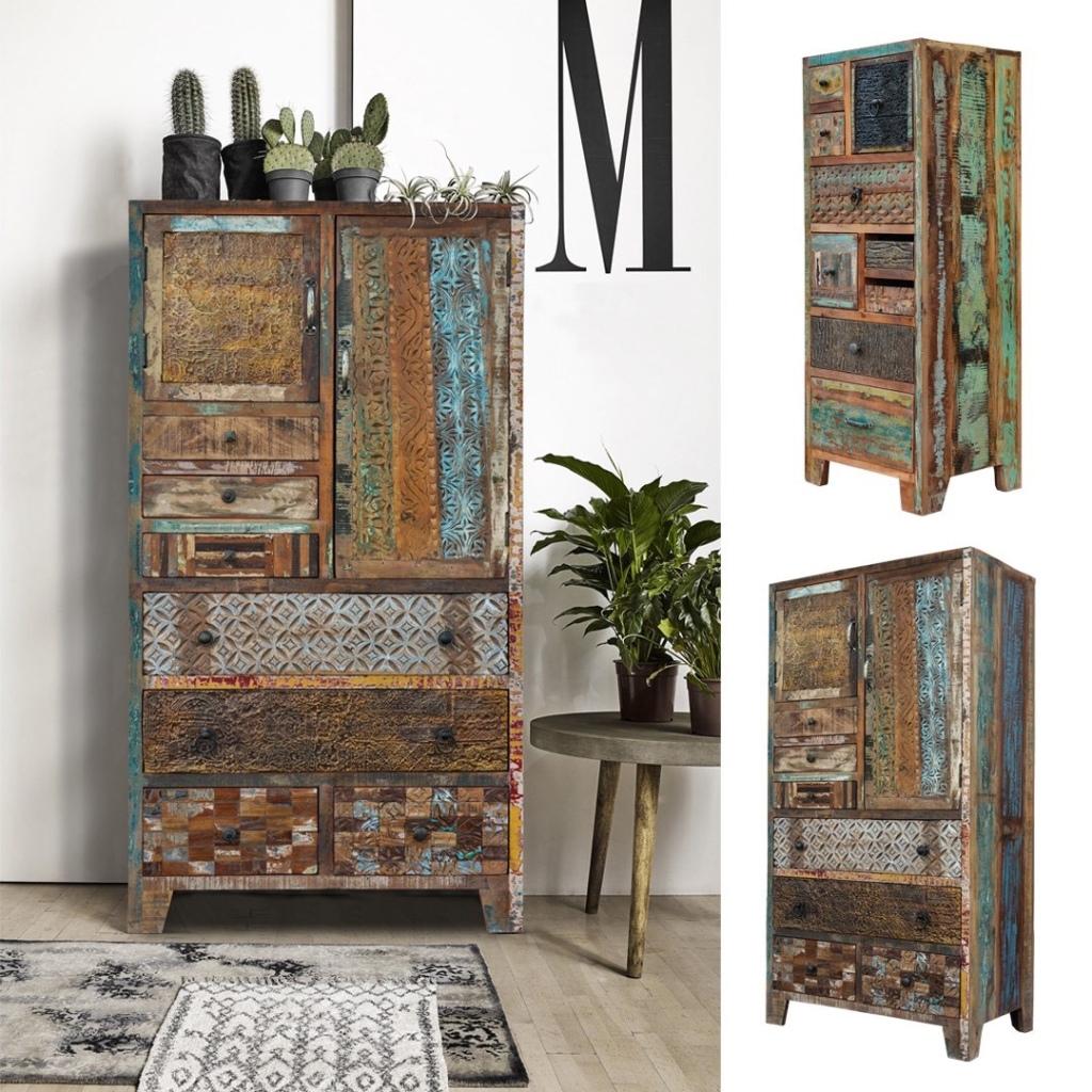 meble indyjskie, meble kolonialne, meble drewniane, meble loftowe, kolorowe drewno z recyklingu